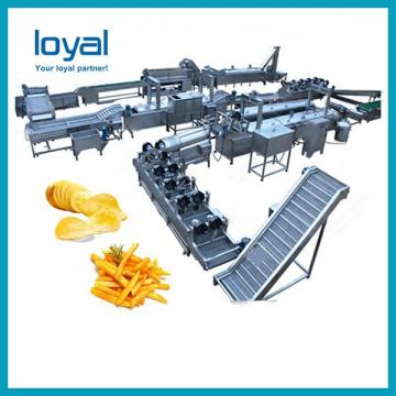 Industrial oil fried french fresh potato chips machine