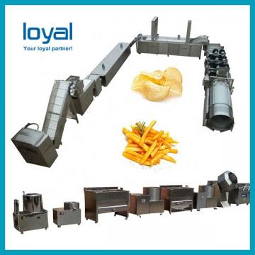 Small Scale Potato Chips Dices Shreds Slices Pieces Strips Oil-Water Mixture Fried Frying Machine