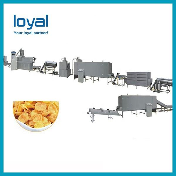 Hot sale choco ring ball honey cereal breakfast corn flakes making extruder machine #3 image