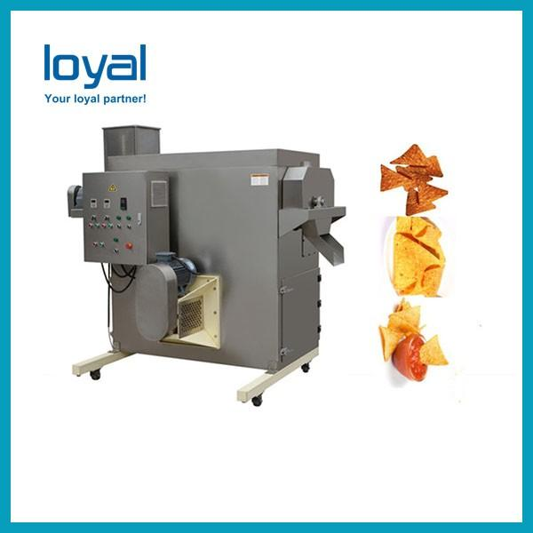 Frying puff corn snack machinery fried wheat flour chips process line #1 image